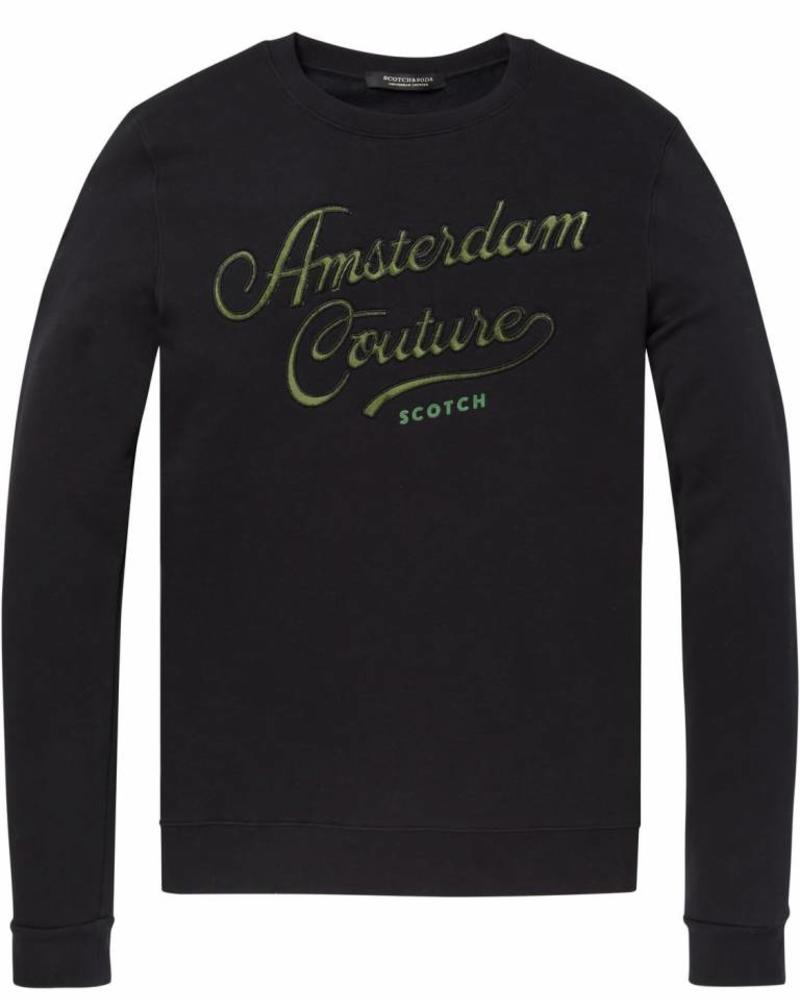 Scotch&Soda 145460 Classic sweat with logo chest artwork 0008