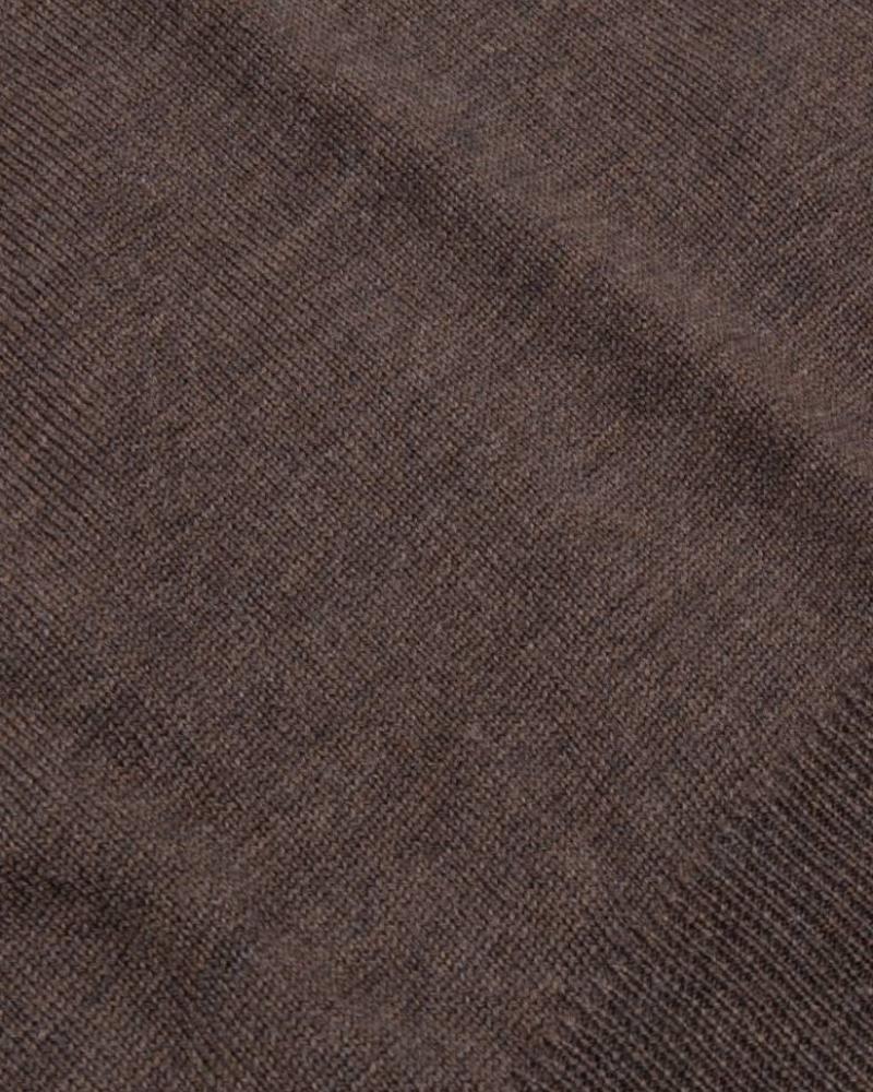 CAVALLARO 1885007 Merino V-neck Pullover Dark Brown