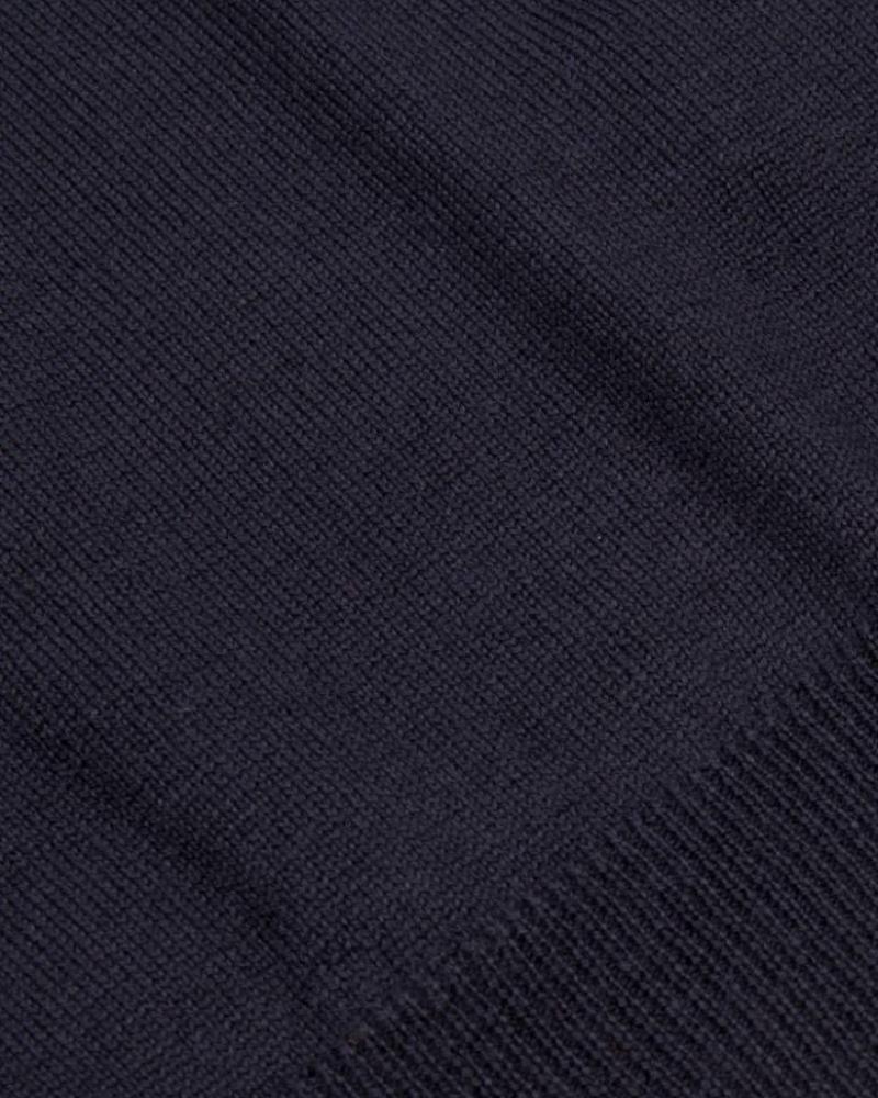 CAVALLARO 1885007 Merino V-neck Pullover Dark Blue