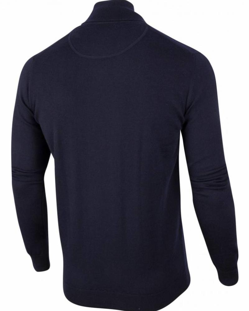 CAVALLARO 1885006 Merino Roll Neck Pullover Dark Blue