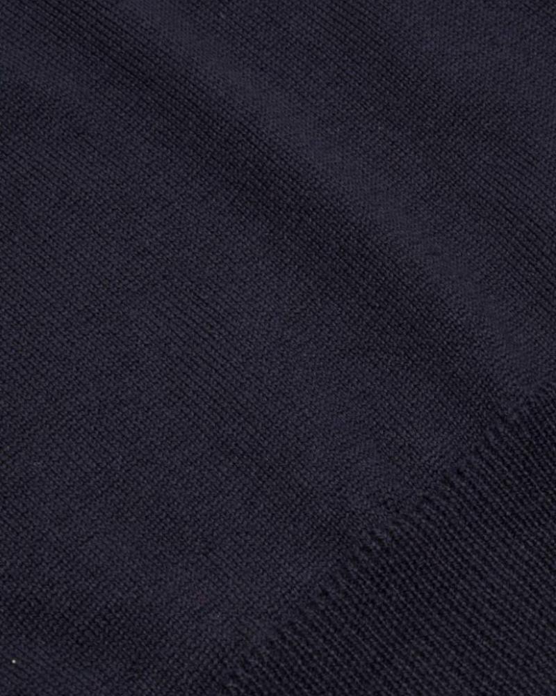 CAVALLARO 1885006 Merino Roll Neck Pullover Dark Blue