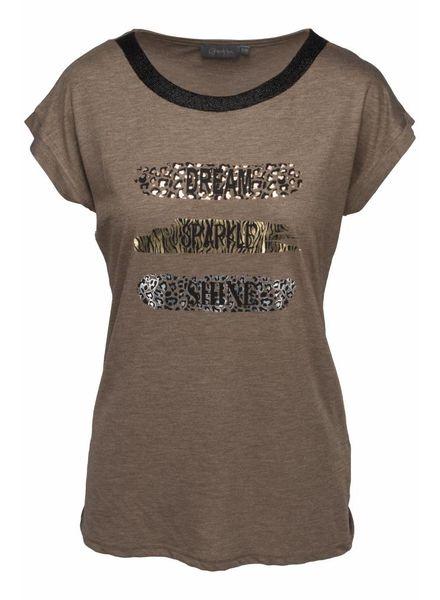 GEISHA 82543-60 T-shirt dark sand