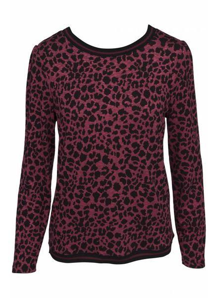 GEISHA 83640-44 Sweat red leopard