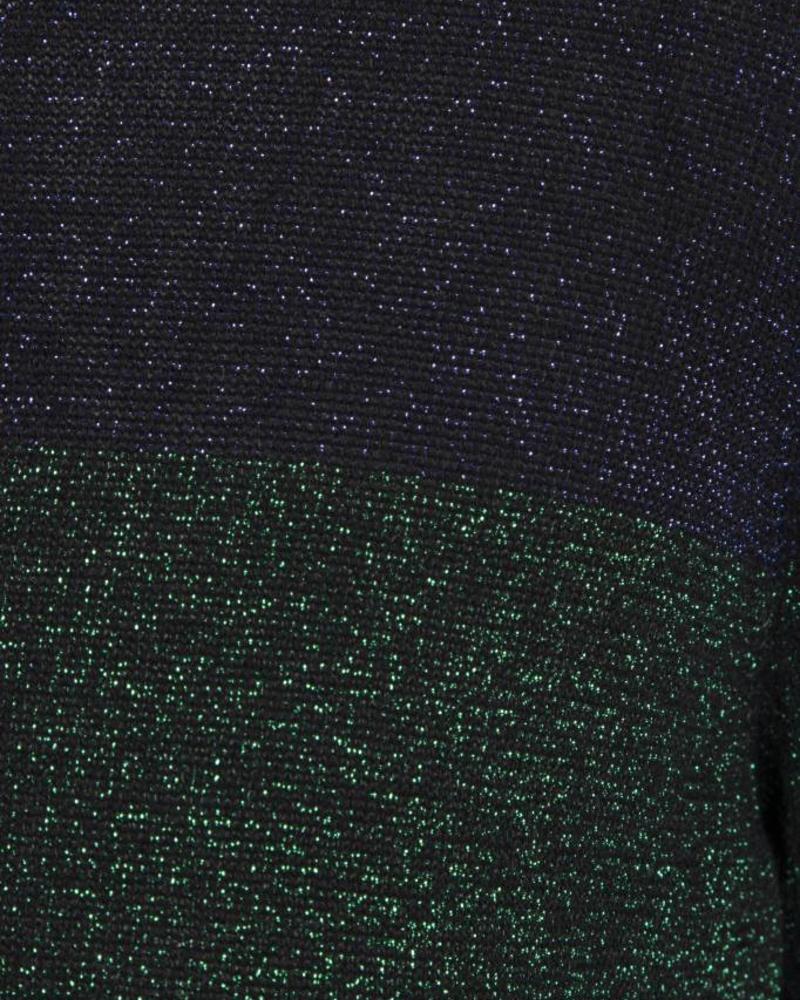 GEISHA 83693-24 Top lurex blue/green combi.