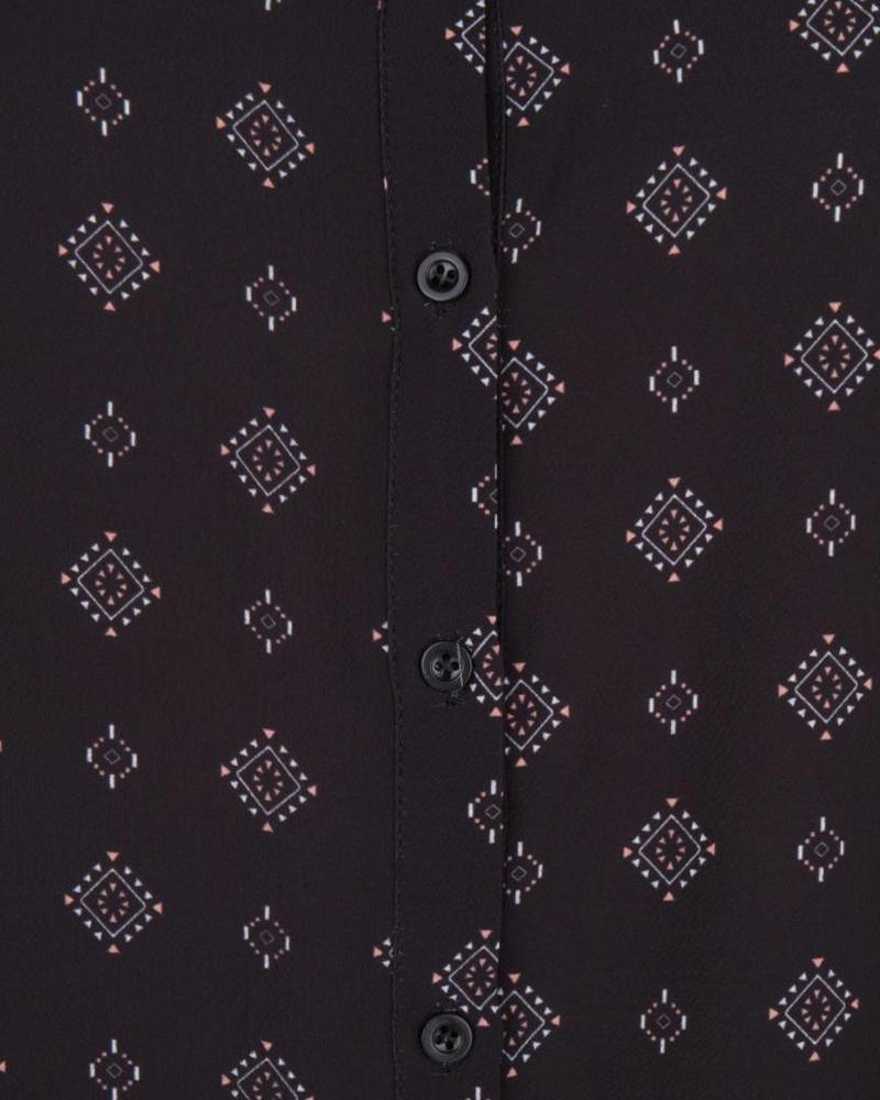 ESQUALO W18.28718 Blouse ethnic print black
