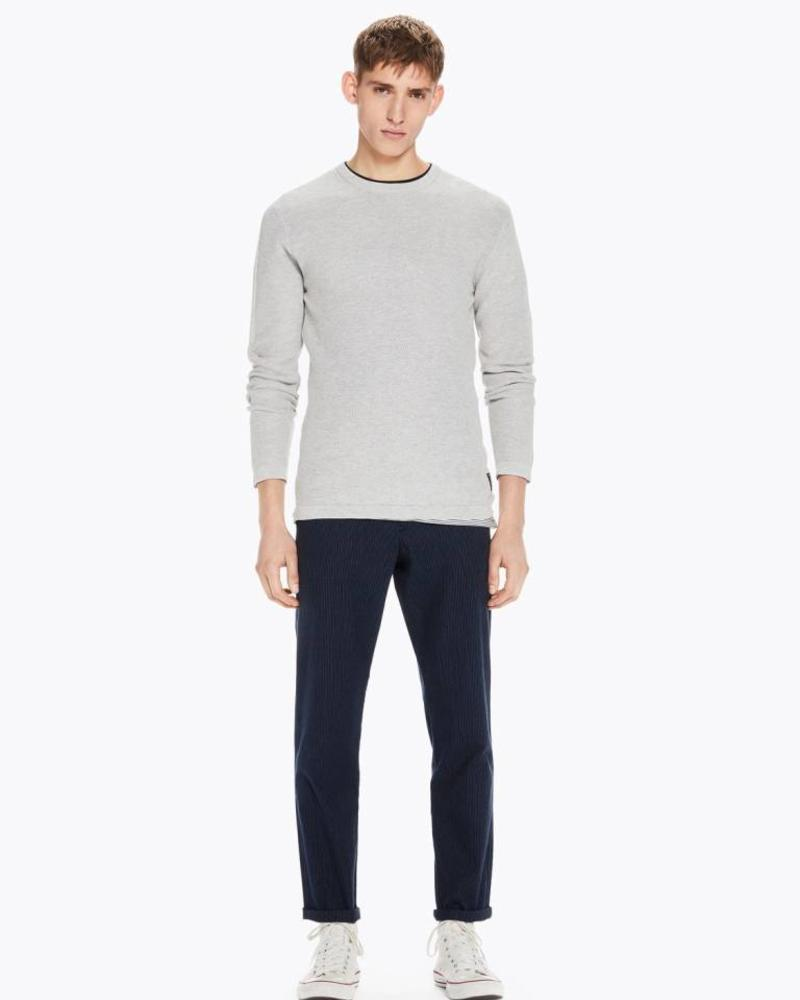 Scotch&Soda 145599 Snow washed crewneck pullover in structured knit