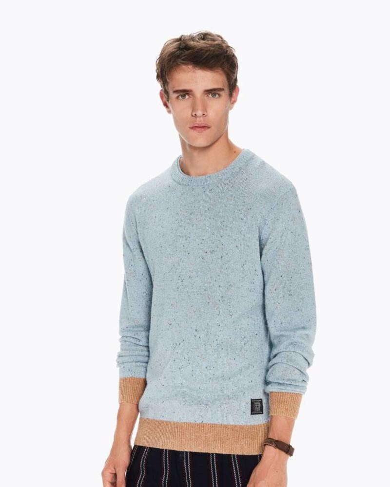 Scotch&Soda 145591 Crewneck pullover in wool blend quality with neps 0220