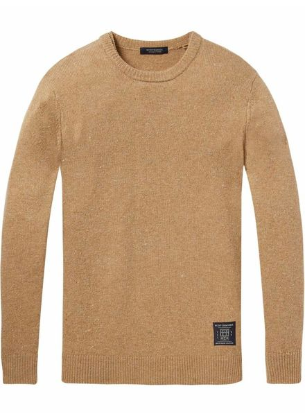 Scotch&Soda 145591 Crewneck pullover in wool blend quality with neps 0221