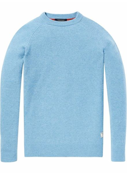 Scotch&Soda 145594 Chunky pullover in melange cashmere blend quality