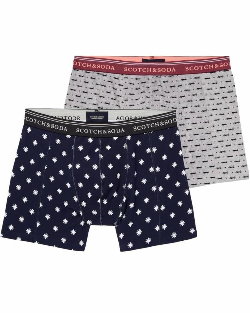 Scotch&Soda 145137 Classic boxer short with seasonal all-over prints