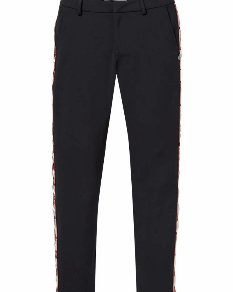 SCOTCH & SODA 146689 Stretch tailored pants with embroidered side panel
