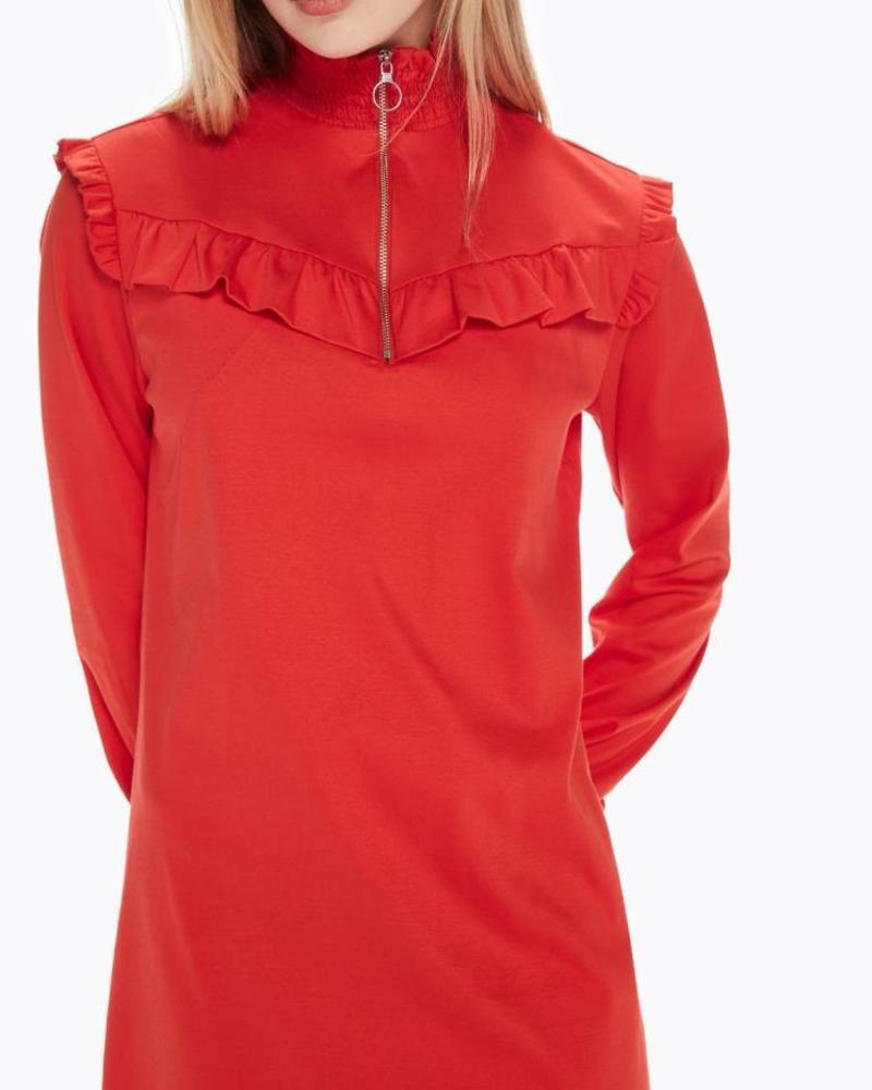 SCOTCH & SODA 146618 Smocked high neck jersey dress 2036