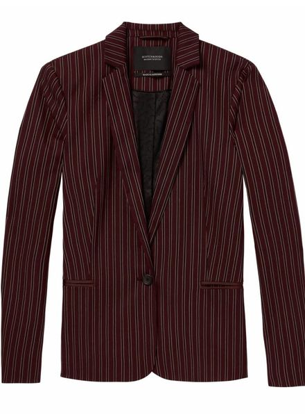 SCOTCH & SODA 146290 Classic tailored blazer in stripes