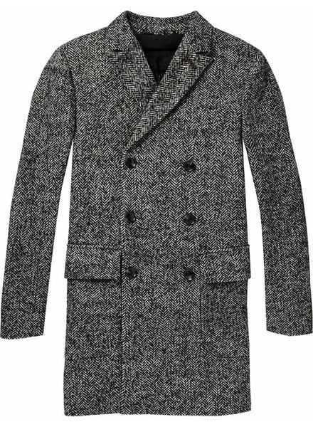 Scotch&Soda 145207 Chic double-breasted coat with inner bodywarmer