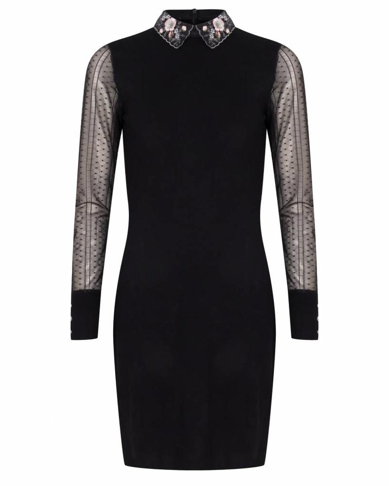 ESQUALO W18.07705 Dress fancy collar black