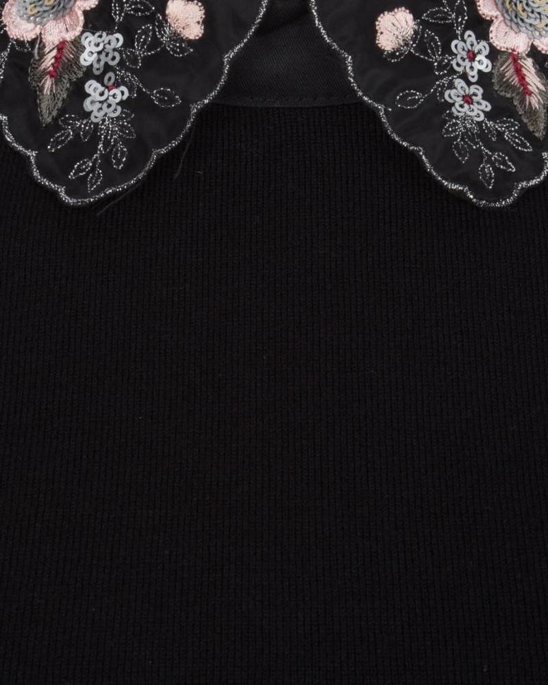 ESQUALO W18.07706 Sweater fancy collar black