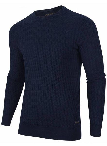 CAVALLARO 1885011 Aurelio Pullover Dark Blue