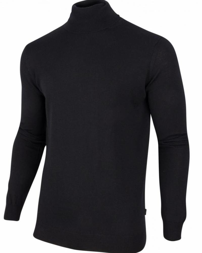 CAVALLARO 1885006 Merino Roll Neck Pullover Black