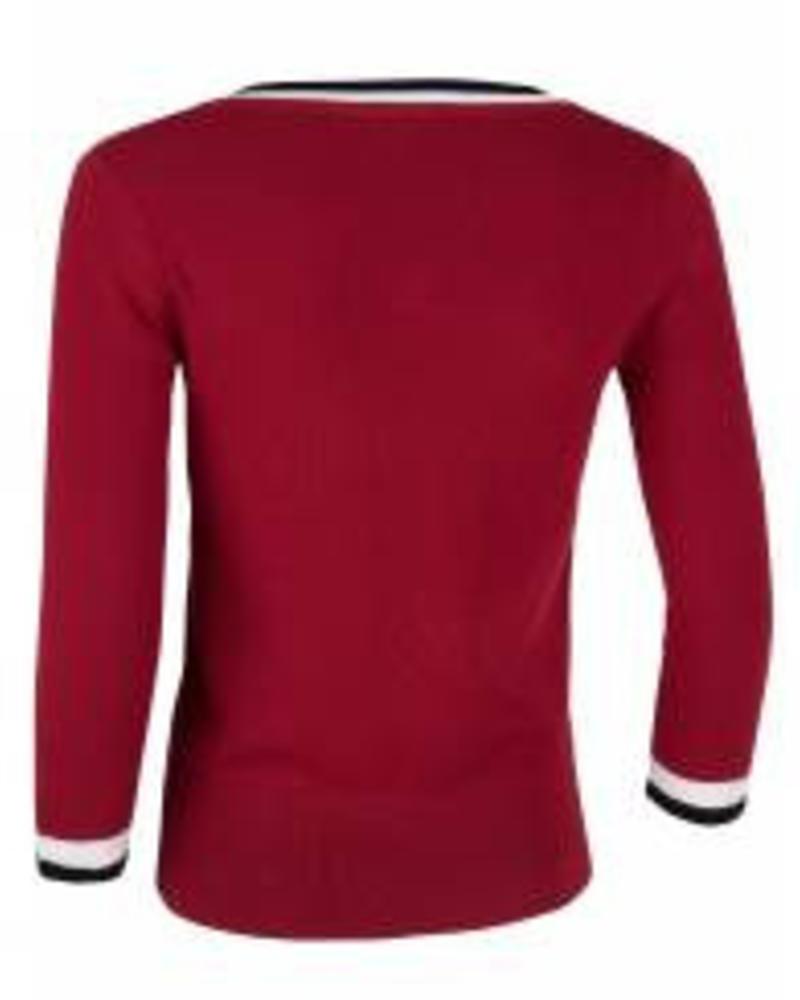 CAVALLARO 5885008 Crocette Pullover Dark red