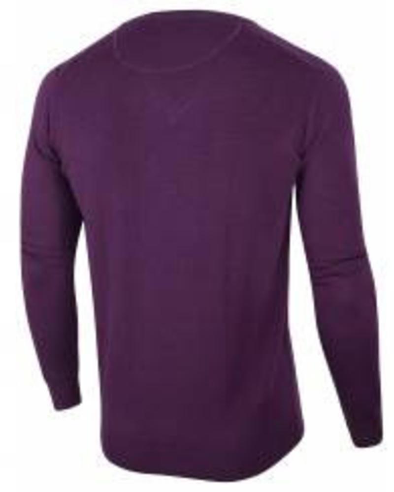 CAVALLARO 1885007 Merino V-neck Pullover Purple