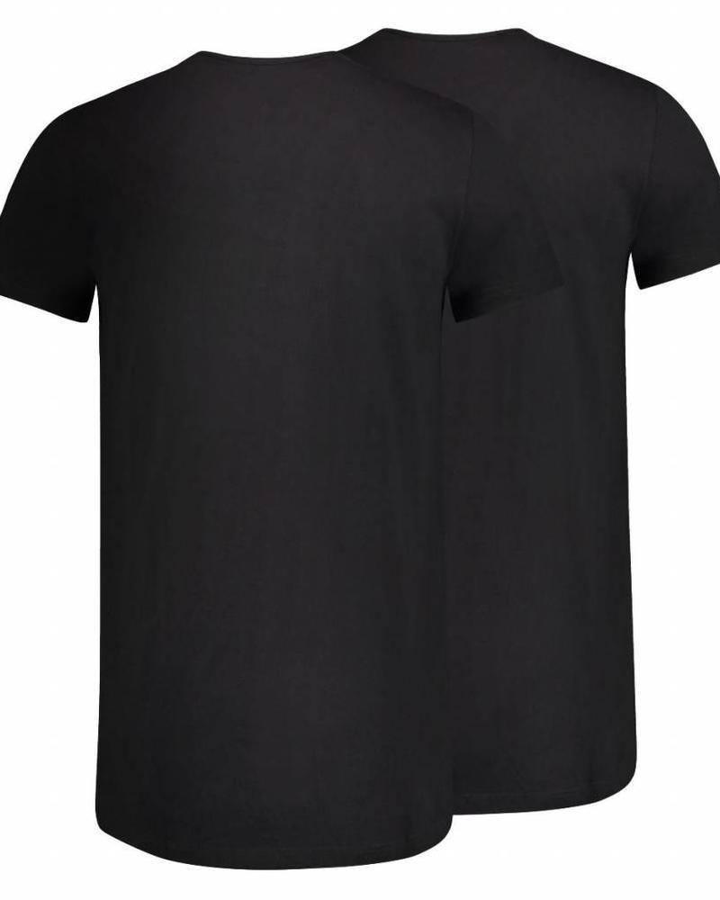 RJ BODYWEAR GOUDA REGULAR FIT THIN V-NECK 37-044 BLACK