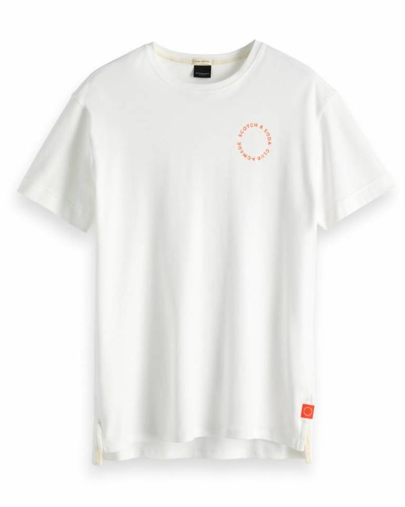 Scotch&Soda 147892 00 Club Nomade clean S/S tee in rich cotton