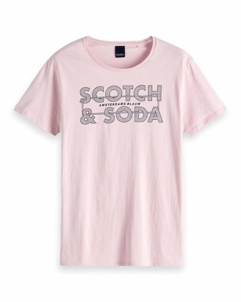 Scotch&Soda 147613 2527 Ams Blauw scotch & soda signature tee in regular fit
