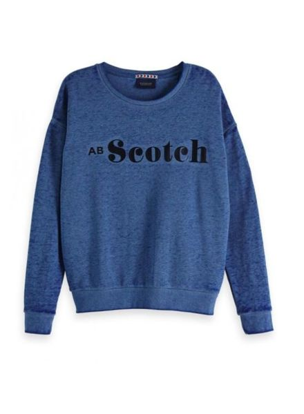 SCOTCH & SODA 147564 2139 Crew neck sweat with various artworks in burnout technique