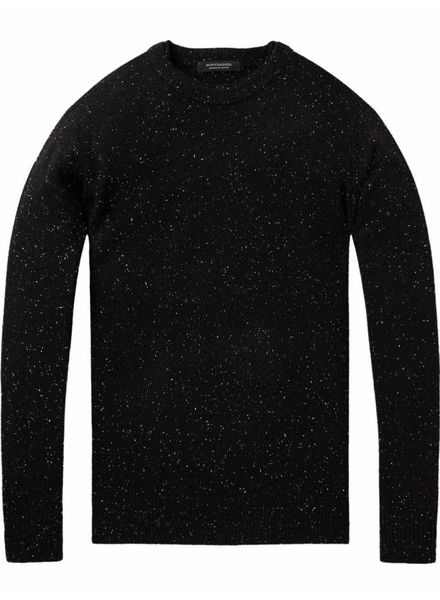 Scotch&Soda 145591 Crewneck pullover in wool blend quality with neps 0218
