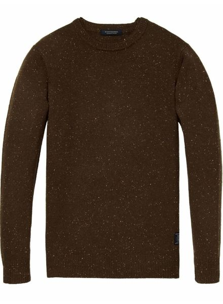 Scotch&Soda 145591 Crewneck pullover in wool blend quality with neps 0222