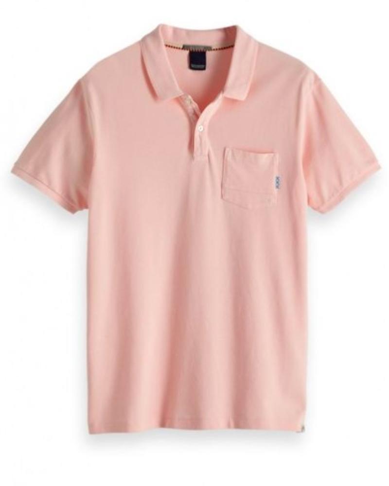 Scotch&Soda 147897 2533 Ams Blauw garment dye polo in seasonal shades