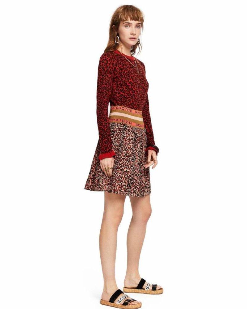 SCOTCH & SODA 149918 Pleated skirt with maison scotch elastic waistband
