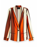 SCOTCH & SODA 150031 Striped drapey pyjama blazer