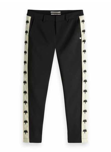 SCOTCH & SODA 149888 Stretch tailored pants with embroidered side panel