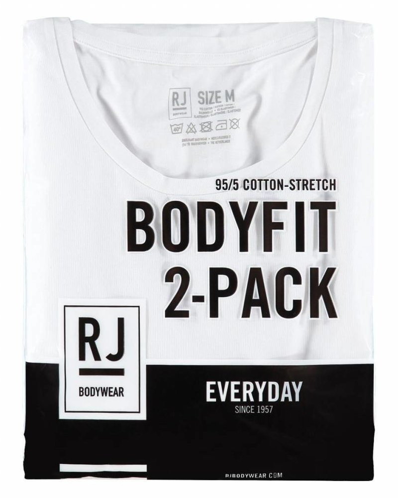 RJ BODYWEAR MAASTRICHT BODY FIT O-NECK 37-050 WHITE