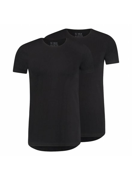 RJ BODYWEAR MAASTRICHT BODY FIT 0-NECK 37-050 BLACK