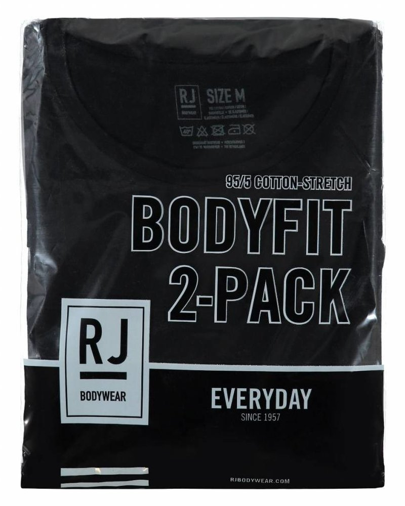 RJ BODYWEAR MAASTRICHT BODY FIT 0-NECK 37-050 BLACK