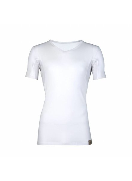 RJ BODYWEAR MEN SWEATPROOF ARMPIT T-SHIRT V-NECK GOODLIFE 37-025-000 WIT