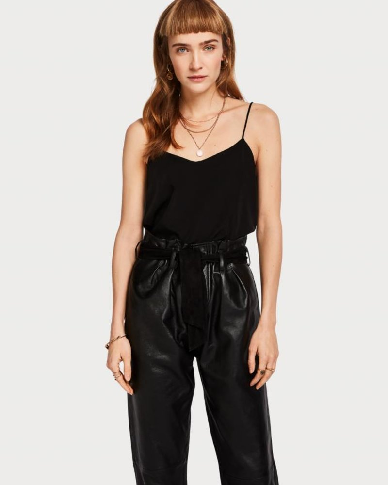 SCOTCH & SODA 150217 top with spaghetti straps and jersey backpanel