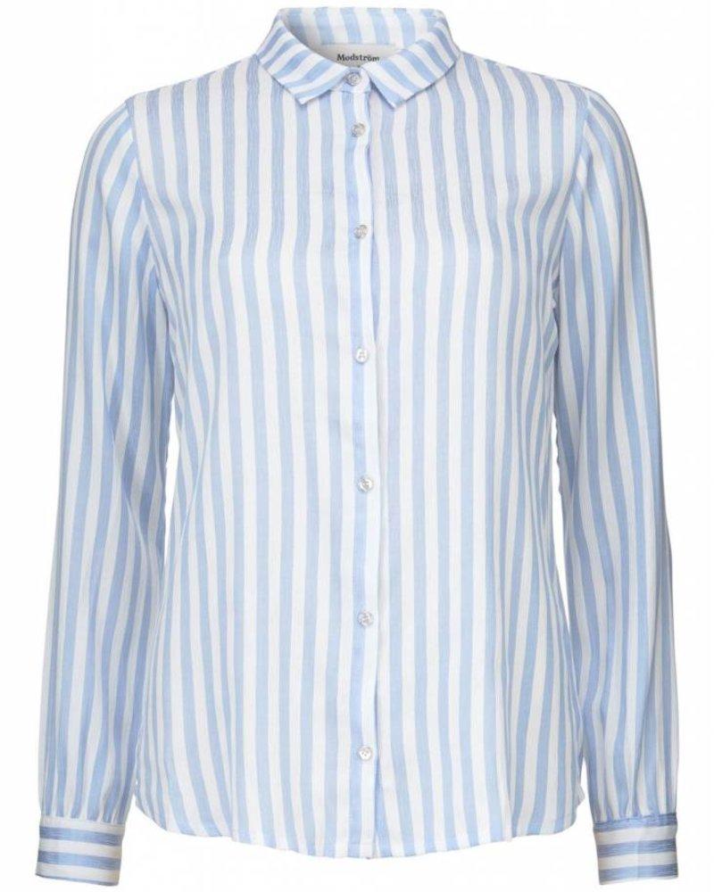 MODSTRÖM Ninne shirt, shirt 13009 off white airy blu