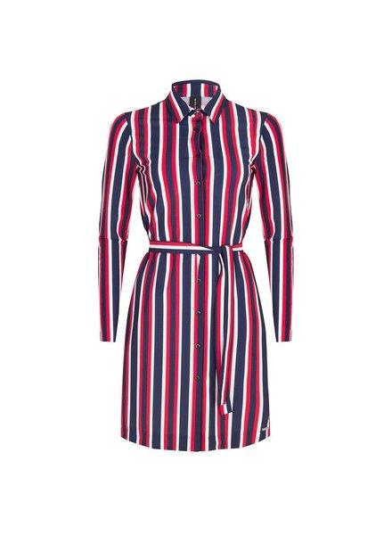 JANE LUSHKA USB919SS120 overhemd jurk white blue