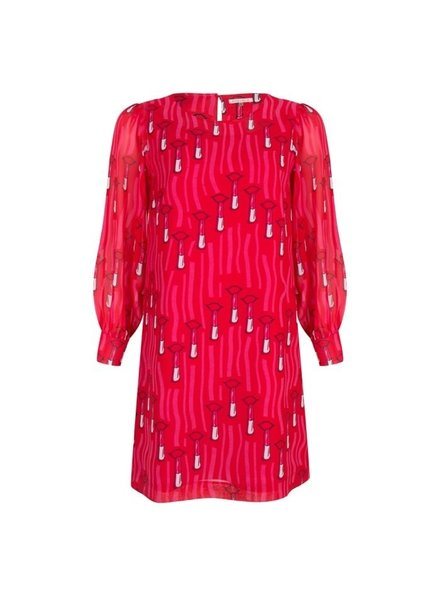 ESQUALO SP19.14007 Dress lipstick print Red 400