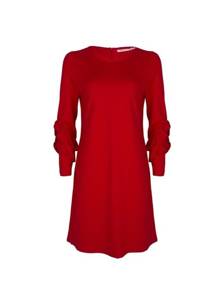 ESQUALO SP19.05010 Dress punto volants Red 400