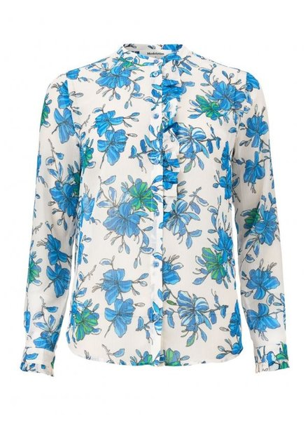MODSTRÖM Noho print LS top, blouse  11786 morning glory