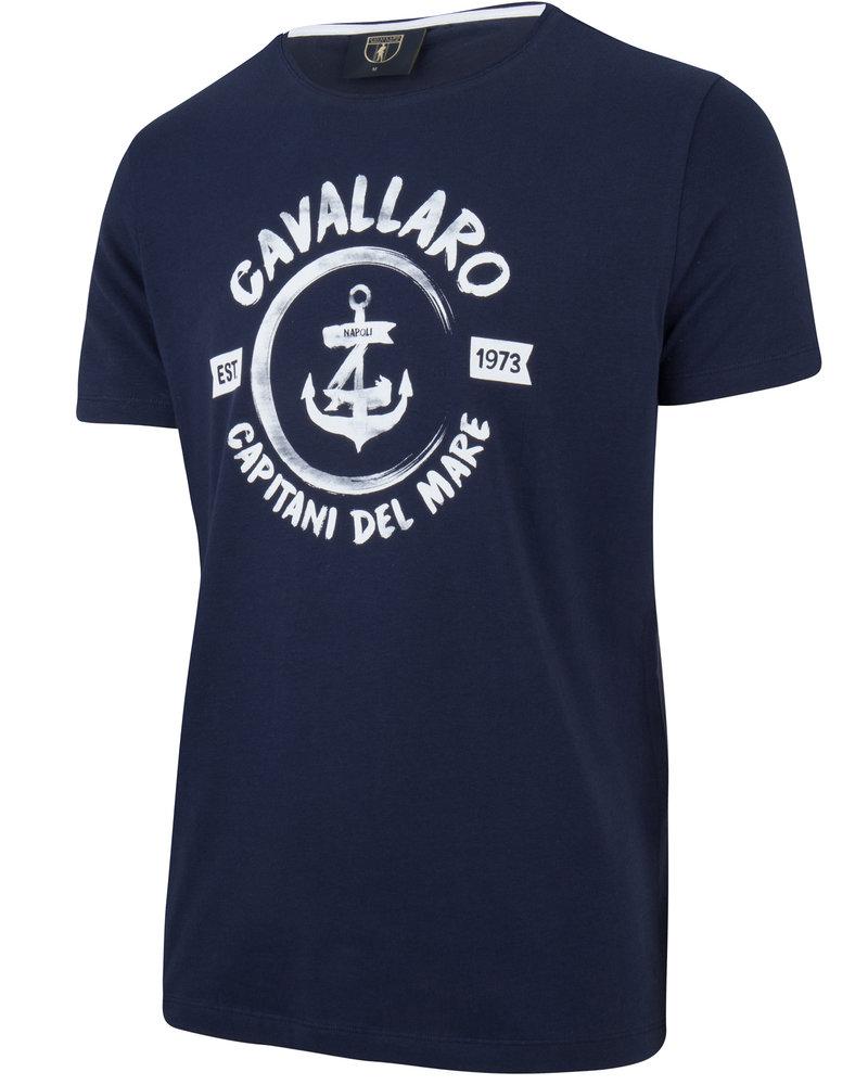 CAVALLARO 1791006 Capitano tee dark blue