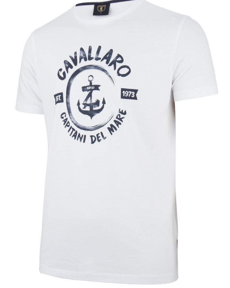 CAVALLARO 1791006 Capitano tee white