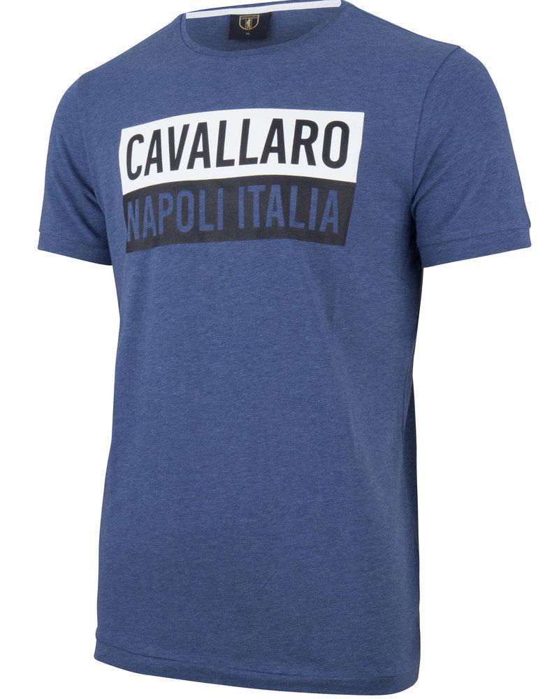 CAVALLARO 1791005 Augusto tee mid blue