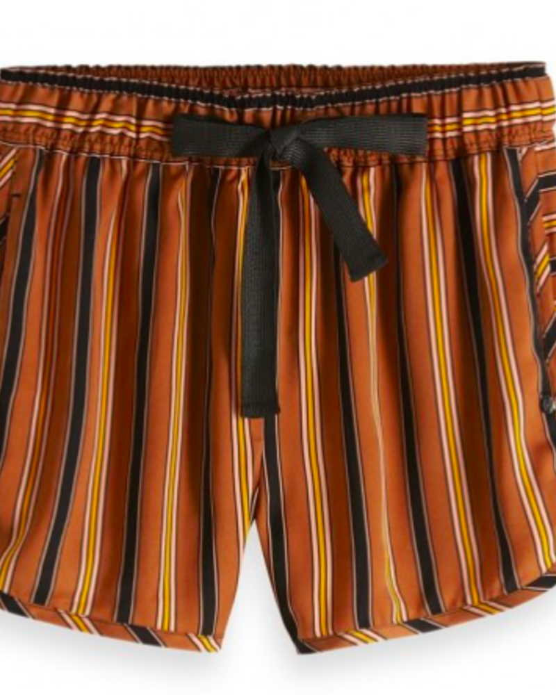 SCOTCH & SODA 149976 printed dolphin shorts with contrast side panel