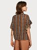 SCOTCH & SODA 149806 mixed print top with ruffled sleeve