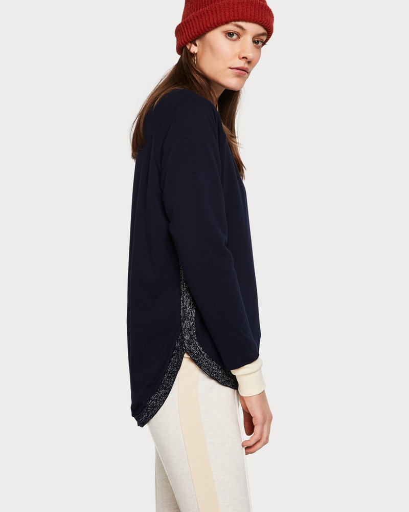 SCOTCH & SODA 133647 57 Loose fitted sweat with contrast ribbings